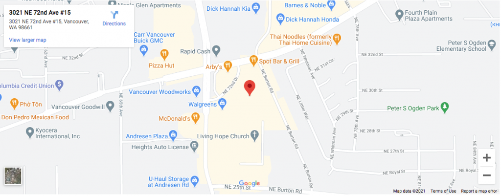 google-map-for-dr-troy-clinic -in-vancouver-wa